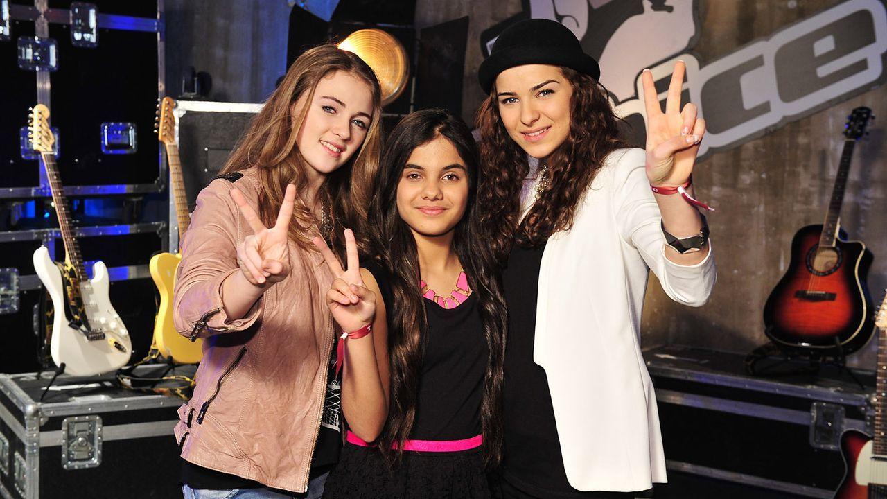 The-Voice-Kids-Stf02-Epi05-Melissa-Naomi-Ilayda-3-SAT1-Andre-Kowalski - Bildquelle: SAT.1/Andre Kowalski