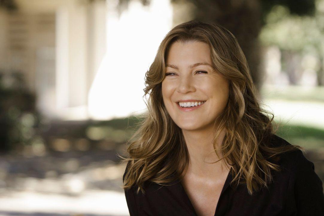 Mit einem Lachkrampf endet für Meredith (Ellen Pompeo) die Beerdigung von George ... - Bildquelle: Touchstone Television