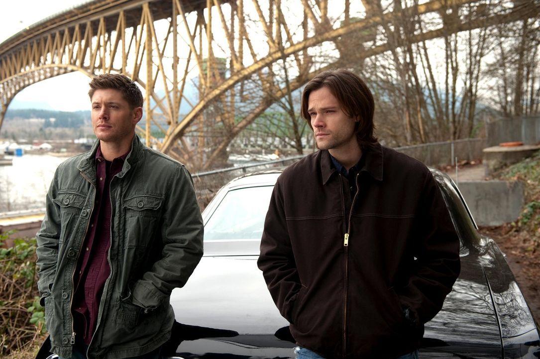 Immer noch geschwächt von der zweiten Aufgabe, zwingt Dean (Jensen Ackles, l.) seinen Bruder (Jared Padalecki, r.), sich auszuruhen, doch dann bekom... - Bildquelle: Warner Bros. Television