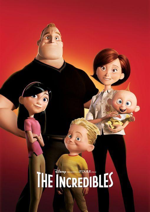 Die Superhelden bekommen eine neue Identität und werden als normale Menschen in die Gesellschaft integriert: Robert (l.), Helen (r.), Baby Jack Jac... - Bildquelle: Disney/Pixar. All rights reserved