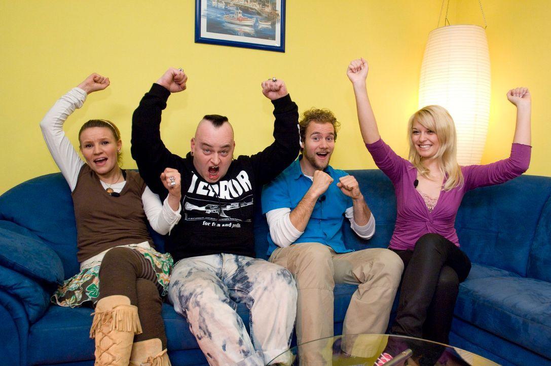 v.l.n.r.: Jenny, Mark, Pascal und Vanessa freuen sich auf tolle Outfits! - Bildquelle: Stefan Menne Sat.1