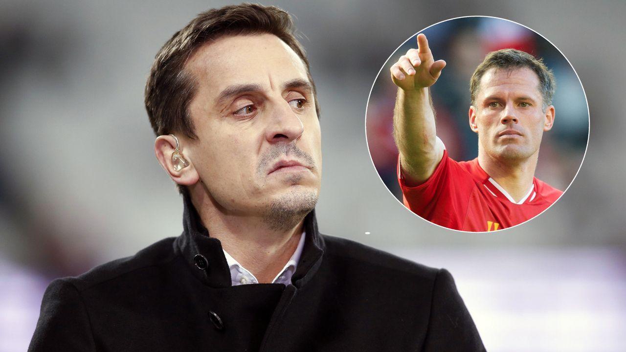 Verlorene Wette: United-Ikone Neville muss bald in Liverpool-Trikot rumlaufen - Bildquelle: Getty Images/Imago
