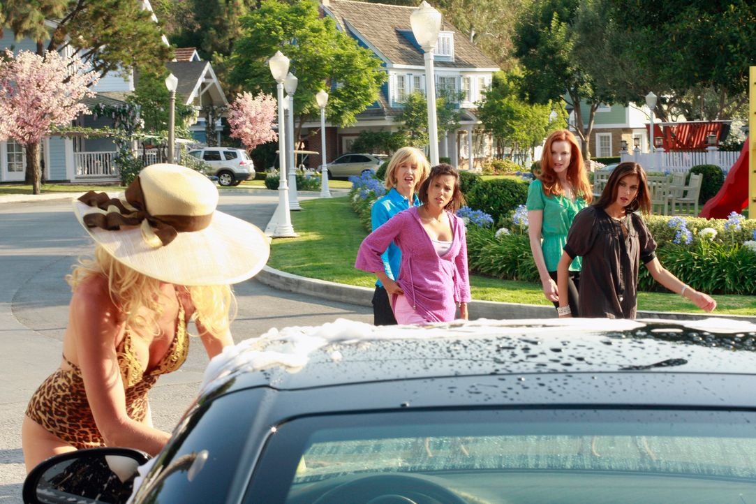 Fünf Jahre ist es her, dass Edie (Nicolette Sheridan, l.) die Wisteria Lane verlassen hat, doch jetzt ist sie wieder zurück und hat einige Überrasch... - Bildquelle: ABC Studios