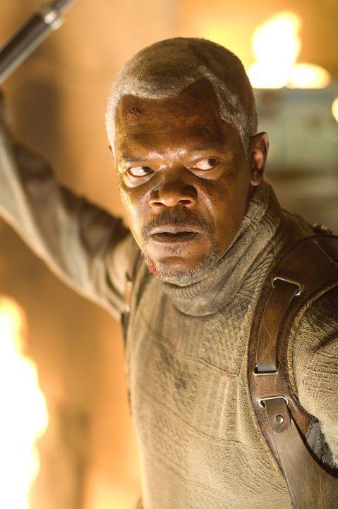 Roland (Samuel L. Jackson) hasst Jumper, weil sie all das tun können, was er gerne machen würde ... - Bildquelle: 2007 Epsilon Motion Pictures GmbH