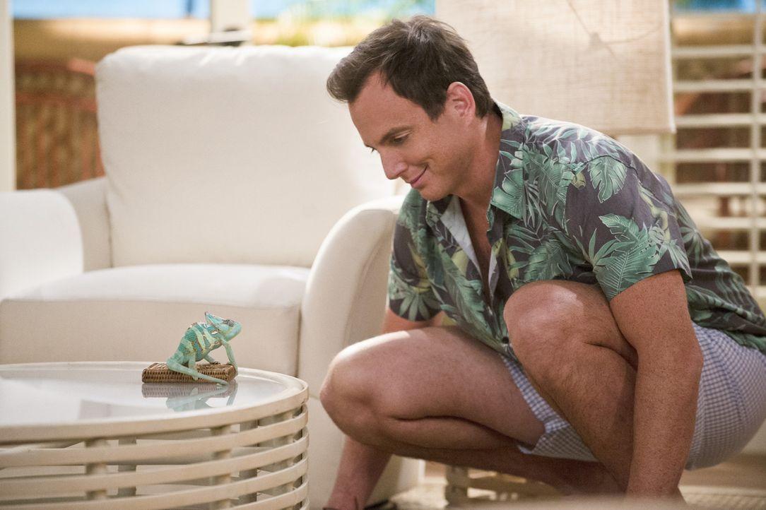 Sein Urlaub auf den Bahamas, soll schon bald jäh gestört werden: Nathan (Will Arnett) ... - Bildquelle: 2013 CBS Broadcasting, Inc. All Rights Reserved.