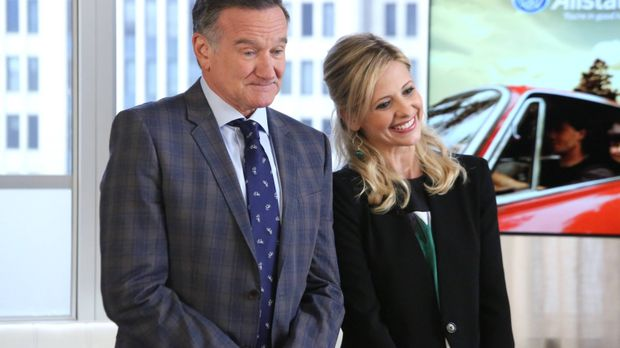 Simon (Robin Williams, l.) und Sydney (Sarah Michelle Gellar, r.) haben sich...