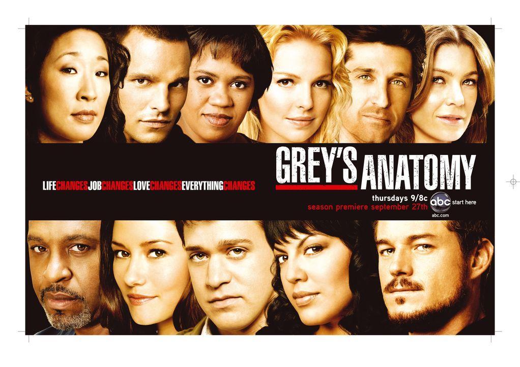 (4. Staffel) - Alles ändert sich: (Oben v.l.n.r.) Dr. Cristina Yang (Sandra Oh), Dr. Alex Karev (Justin Chambers), Dr. Miranda Bailey (Chandra Wilso... - Bildquelle: Touchstone Television