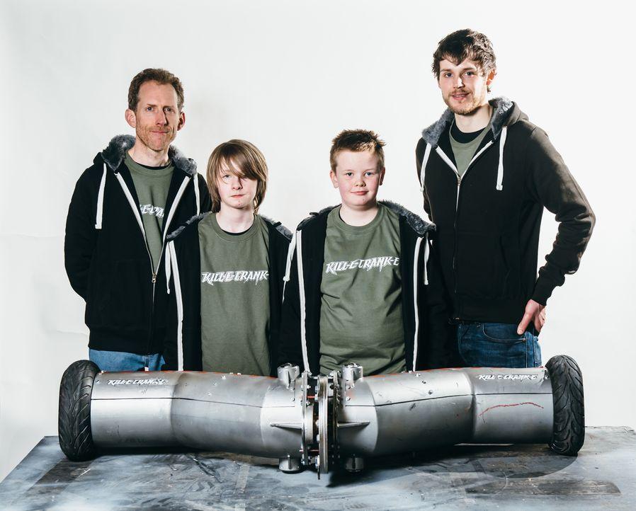 Wird die ungewöhnliche Form ihres Roboters dem Team Kill-E-Crank-E den Sieg in der Kampfarena bringen? - Bildquelle: Andrew Rae