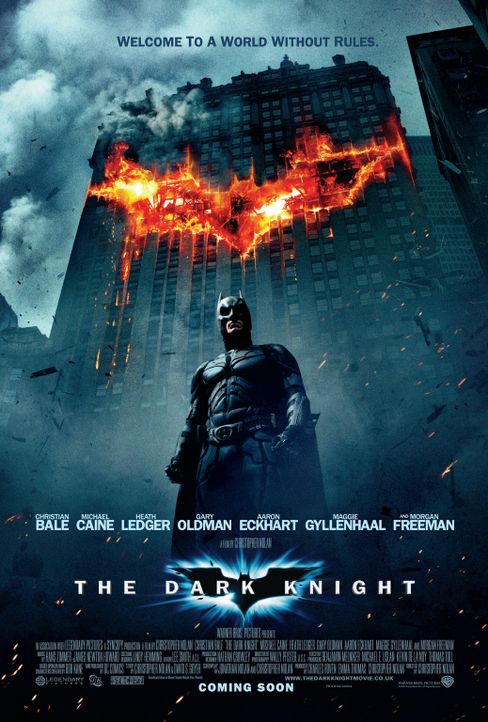 THE DARK KNIGHT - Plakatmotiv - mit Christian Bale als Batman - Bildquelle: Warner Bros.