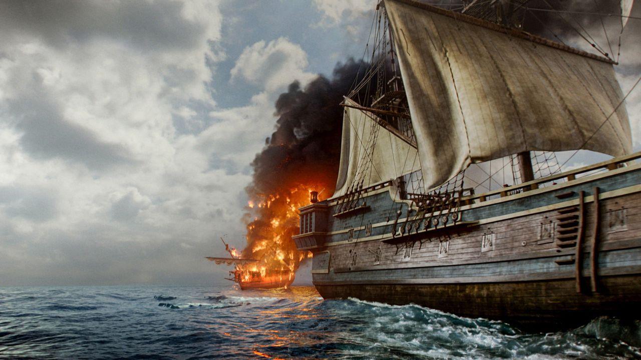 """Der Kapitän der """"Good Fortune"""" hat den Piraten - in der Hoffnung, dass sie ihn und seine Besatzung verschonen - die Ladung ohne Widerstand überlasse... - Bildquelle: 2015 Starz Entertainment LLC, All rights reserved."""
