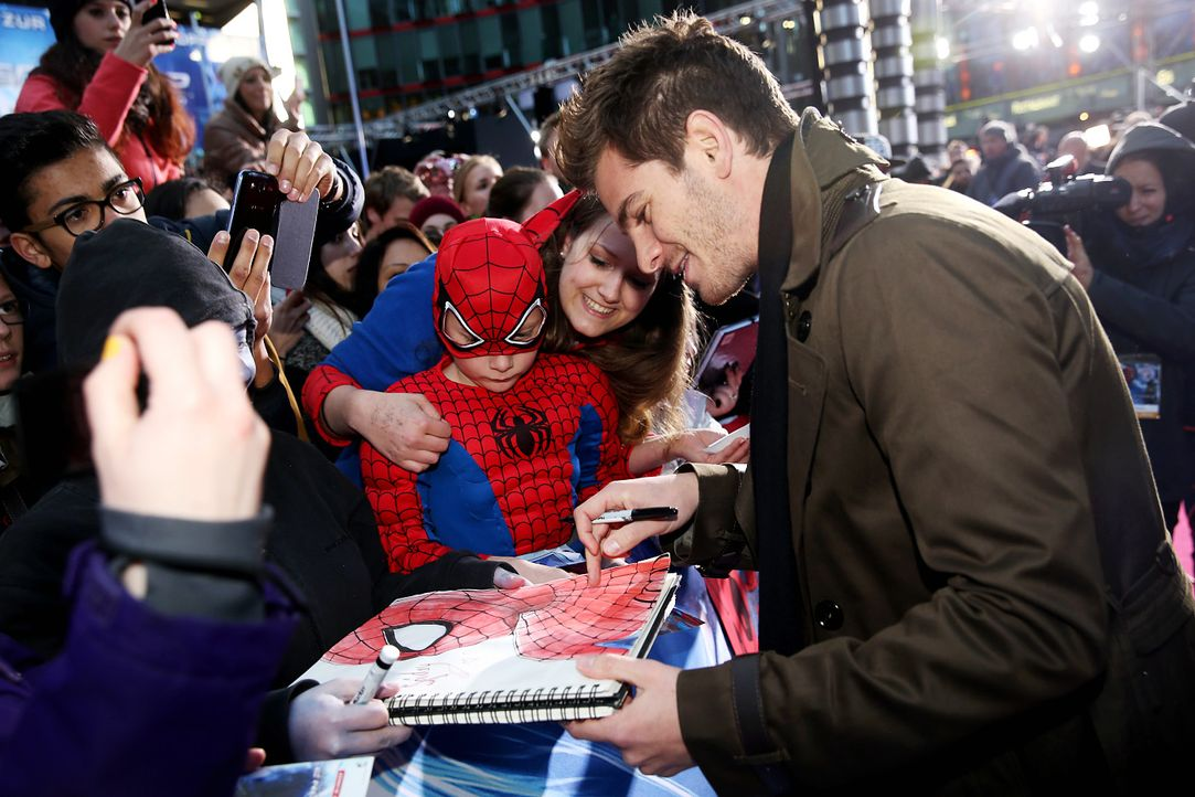 spiderman2-premiere-berlin-Andrew-Garfield-140415-2-Sony-Pictures - Bildquelle: 2014 Sony Pictures Releasing GmbH