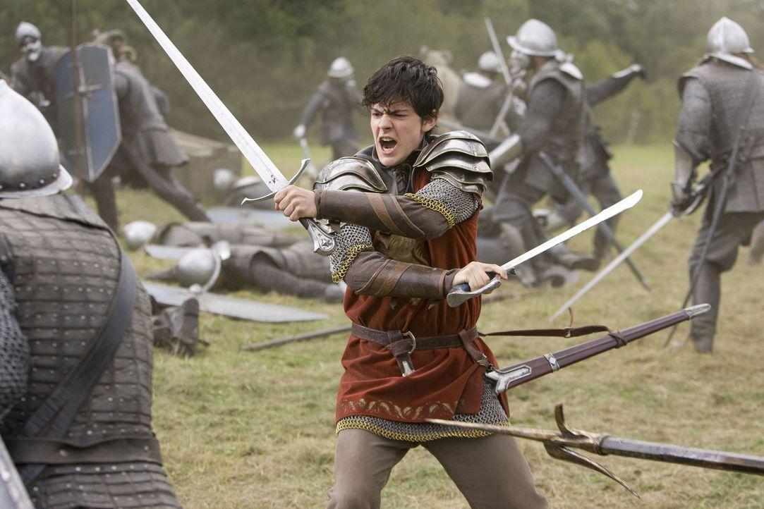 Zwischen Edmund (Skandar Keynes) und den Telmarern beginnt ein Kampf auf Leben und Tod ... - Bildquelle: Disney - ABC - ESPN Television