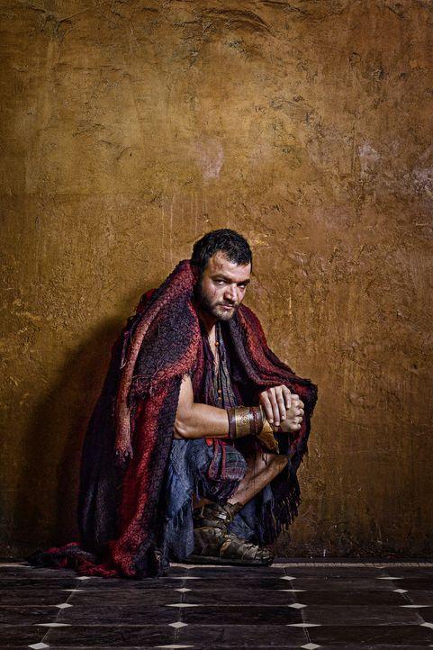 Ashur (Nick E. Tarabay) schließt sich nicht Spartacus' Aufstand an. Stattdessen sucht er seinen Vorteil darin, die Römer im Kampf gegen die entflo... - Bildquelle: 2011 Starz Entertainment, LLC. All rights reserved.