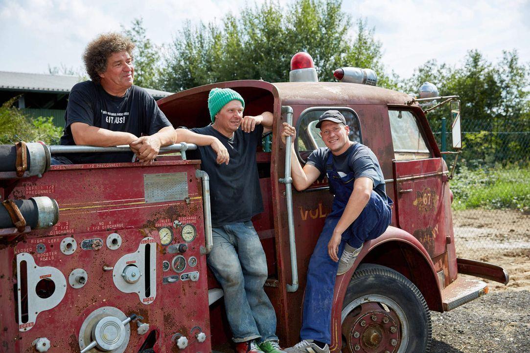 Die Ludolfs sind zurück: Manni (M.), Uwe (l.) und sein Sohn Thommy (M.) ... - Bildquelle: Guido Engels kabel eins