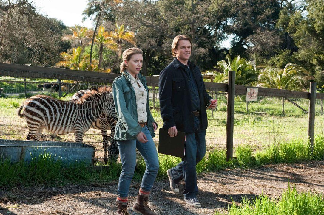 Benjamin Mee (Matt Damon, r.) kauft einen abbruchreifen Tierpark und versucht, das Gelände auf Vordermann zu bringen. Unterstützt wird er dabei von... - Bildquelle: 2011 Twentieth Century Fox Film Corporation. All rights reserved.