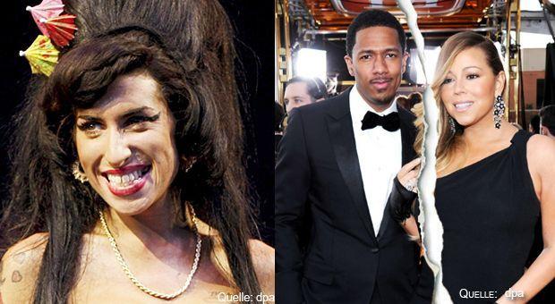 Top-Flop-Amy-Winehouse-dpa-Nick-Cannon-Mariah-Carey-dpa - Bildquelle: dpa