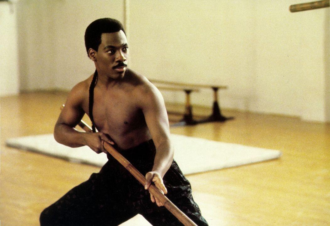 Auch der junge Prinz Akeem (Eddie Murphy) weiß sich zu wehren ... - Bildquelle: Paramount Pictures