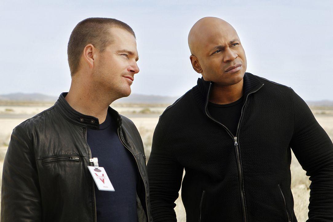 Undercover im Einsatz: Sam (LL Cool J, r.) und Callen (Chris O'Donnell, l.) ... - Bildquelle: CBS Studios Inc. All Rights Reserved.