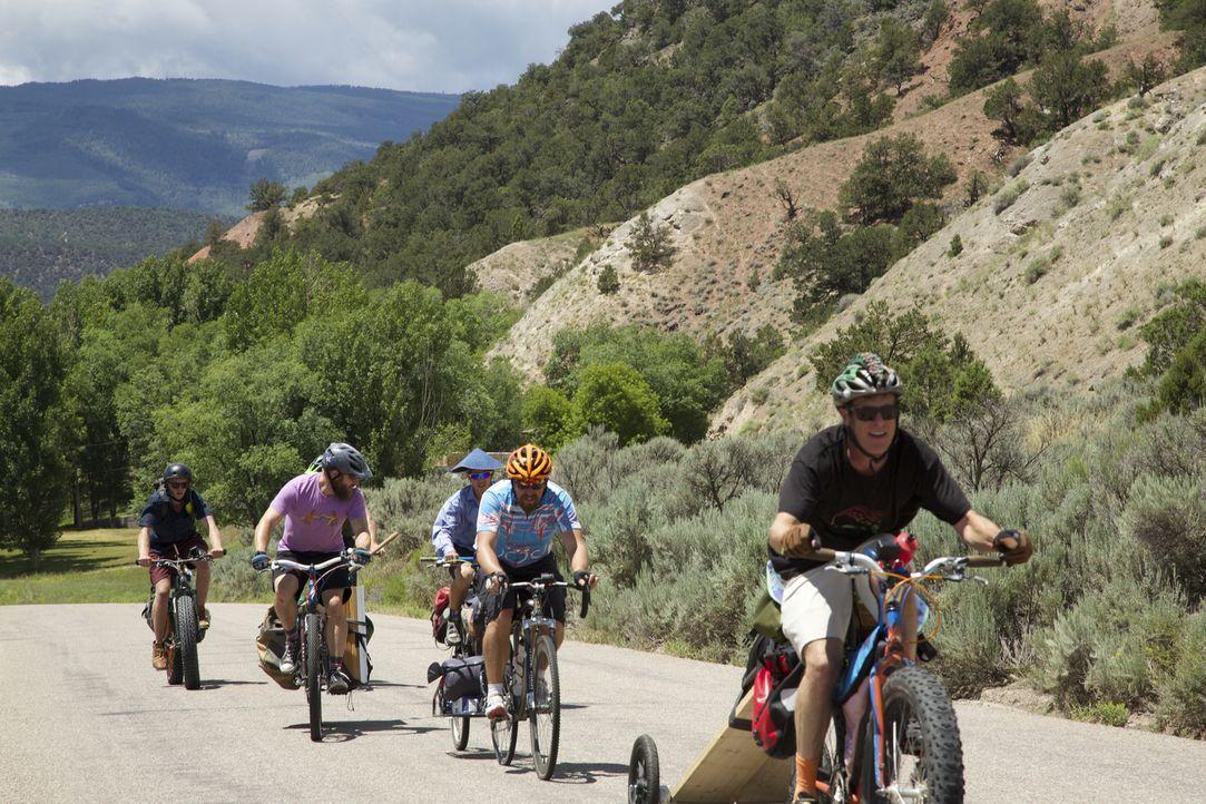 Die rauen Rocky Mountains im Westen Colorados sind ein Traum für tollkühne Outdoorfans wie die Stomparillaz, einer Gruppe von begeisterten Mountainbikern aus Colorado ...