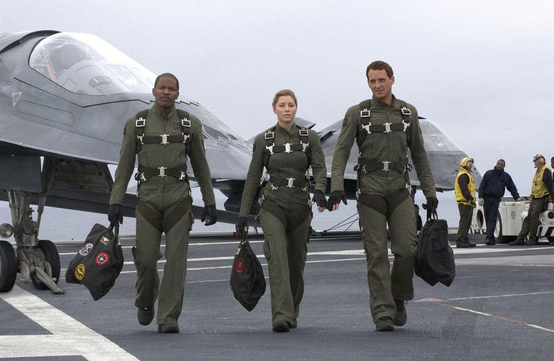 Die Welt ist auch nicht mehr das, was sie mal war - vor allem dann nicht, wenn unbemannte Kampfjets versuchen, die Herrschaft über die Welt zu erlan... - Bildquelle: 2005 Columbia Pictures Industries, Inc. All Rights Reserved.