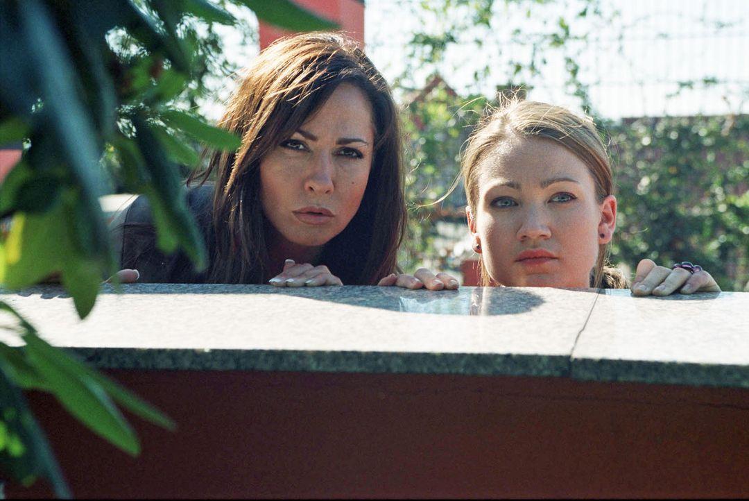 Charlotte (Simone Thomalla, l.) und Sophie (Lisa Maria Potthoff, r.) gelingt die Flucht. Sie schleichen sich in Charlottes Haus und erwischen Thomas... - Bildquelle: Hardy Spitz Sat.1