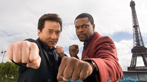 Rush Hour 3 - Detective Carter (Chris Tucker, r.) und Inspector Lee (Jackie C...