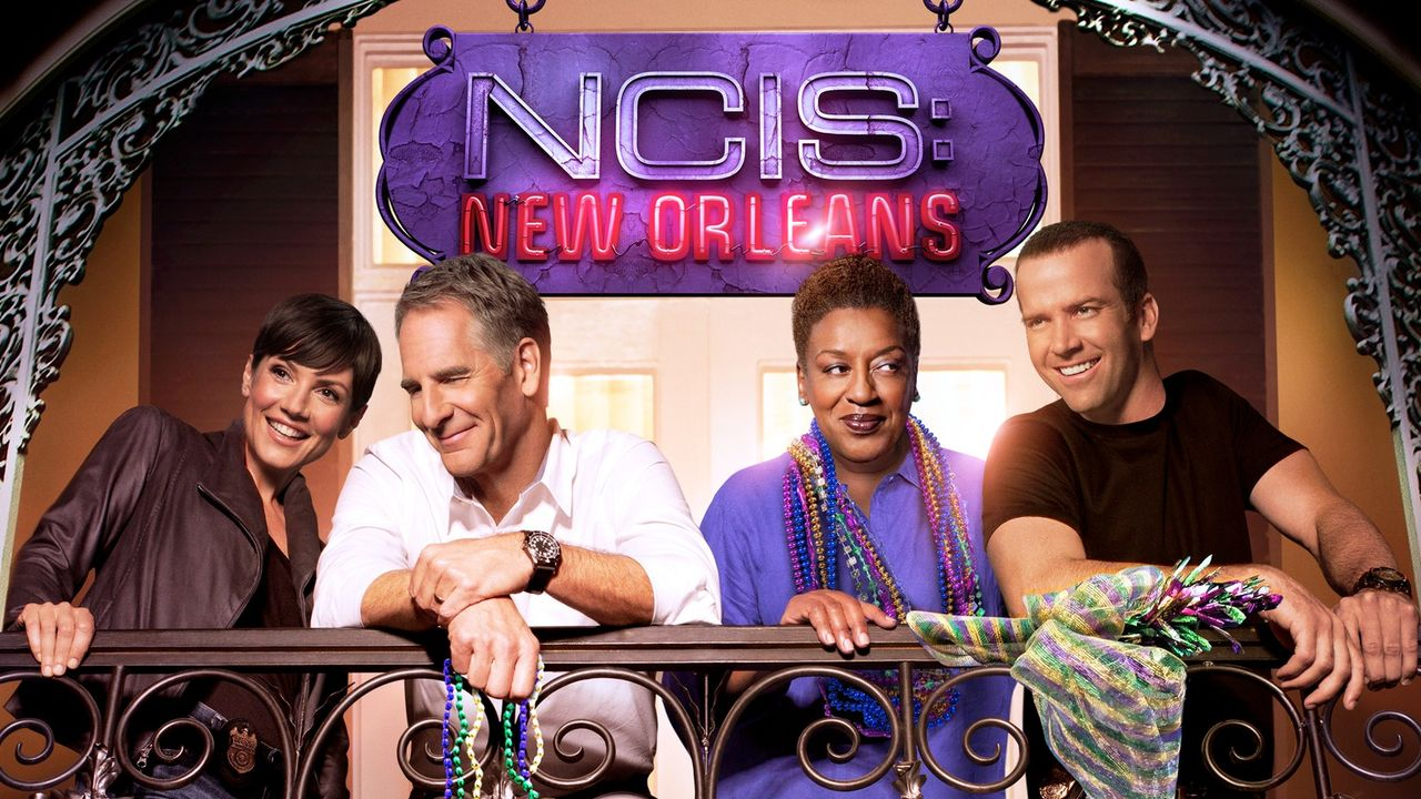 (1. Staffel) - NCIS: New Orleans: Special Agent Pride (Scott Bakula, 2.v.l.), Special Agent Brody (Zoe McLellan, l.), Special Agent Lasalle (Lucas B... - Bildquelle: 2014 CBS Broadcasting Inc. All Rights Reserved.