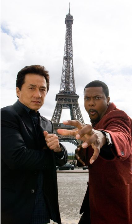 Eines Tages müssen Detective Carter (Chris Tucker, r.) und Chief Inspector Lee (Jackie Chan, l.) nach Paris reisen, um einem mächtigen Triadenboss d... - Bildquelle: Warner Bros.