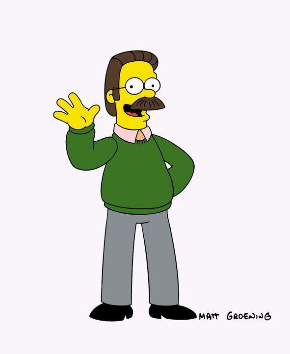 (13. Staffel) - Manchmal gewöhnungsbedürftig: Nachbar der Simpsons Ned Flanders. - Bildquelle: und TM Twentieth Century Fox Film Corporation - Alle Rechte vorbehalten