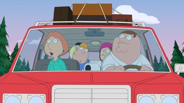 Die Griffins fahren zu einer Party auf einem abgelegenen Landsitz. Sie haben...