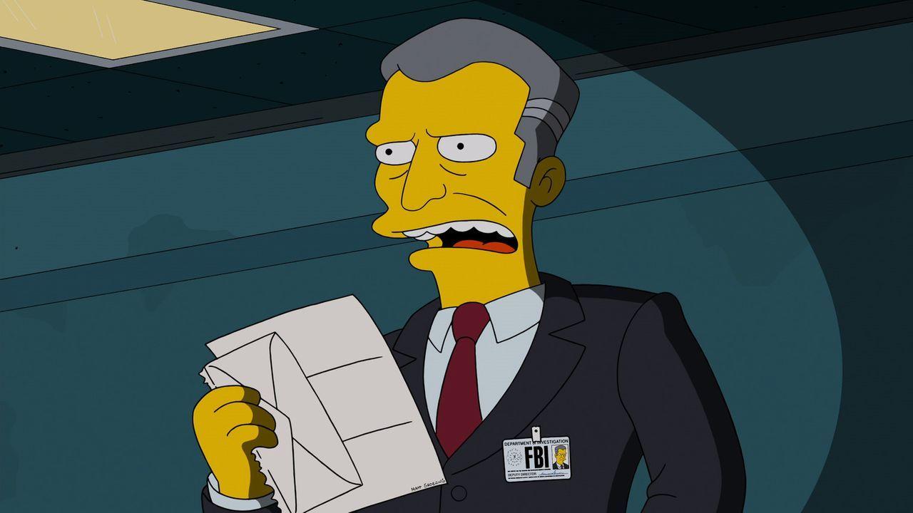 Hat sich den Kampf gegen die Internet-Piraterie auf die Fahnen geschrieben und eröffnet die Jagd auf Homer Simpson: Detective Gratman vom FBI ... - Bildquelle: 2013 Twentieth Century Fox Film Corporation. All rights reserved.