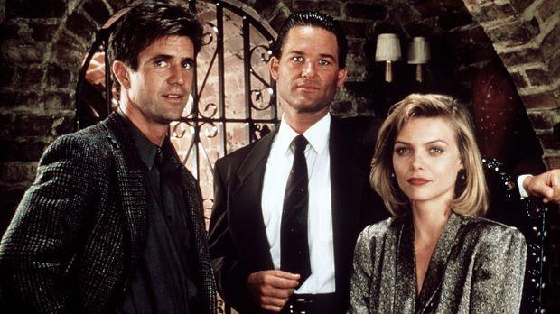 Dale McKussic (Mel Gibson, l.) und Nick Frescia (Kurt Russell, M.) kennen sic...