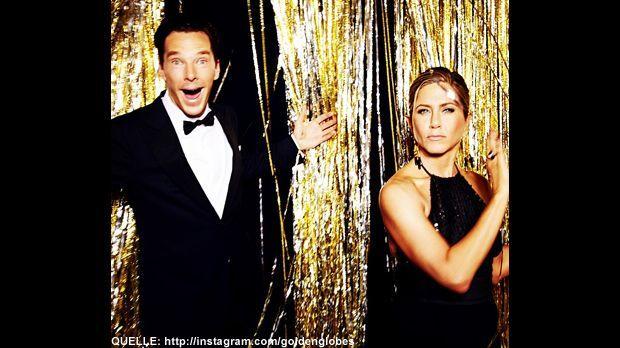 Golden-Globes-Benedict-Cumberbatch-Jennifer-Aniston-Instagram - Bildquelle: http://instagram.com/goldenglobes