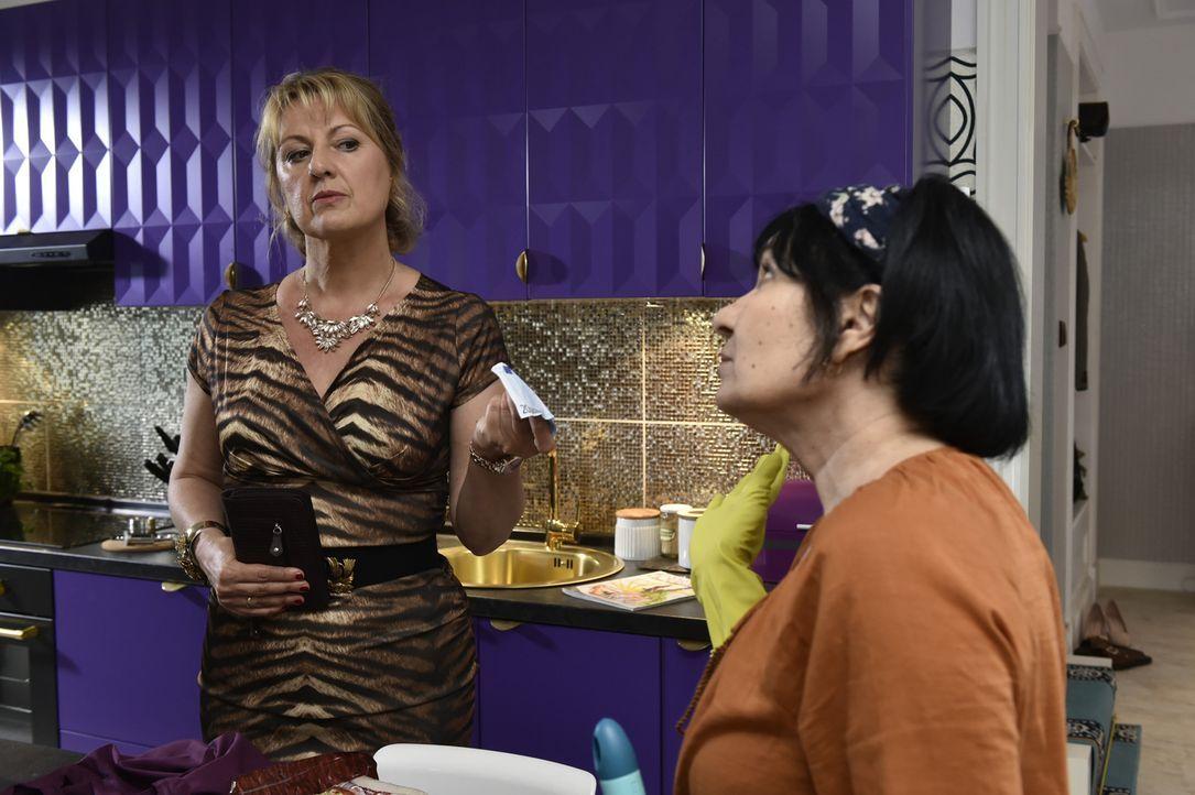 Während Felicitas (Claudia Lietz, l.) das Treffen mit Bernd plant, spart Guel (Oezay Fecht, r.) nicht mit bissigen Kommentaren, die die Stimmung nic... - Bildquelle: Claudius Pflug SAT.1