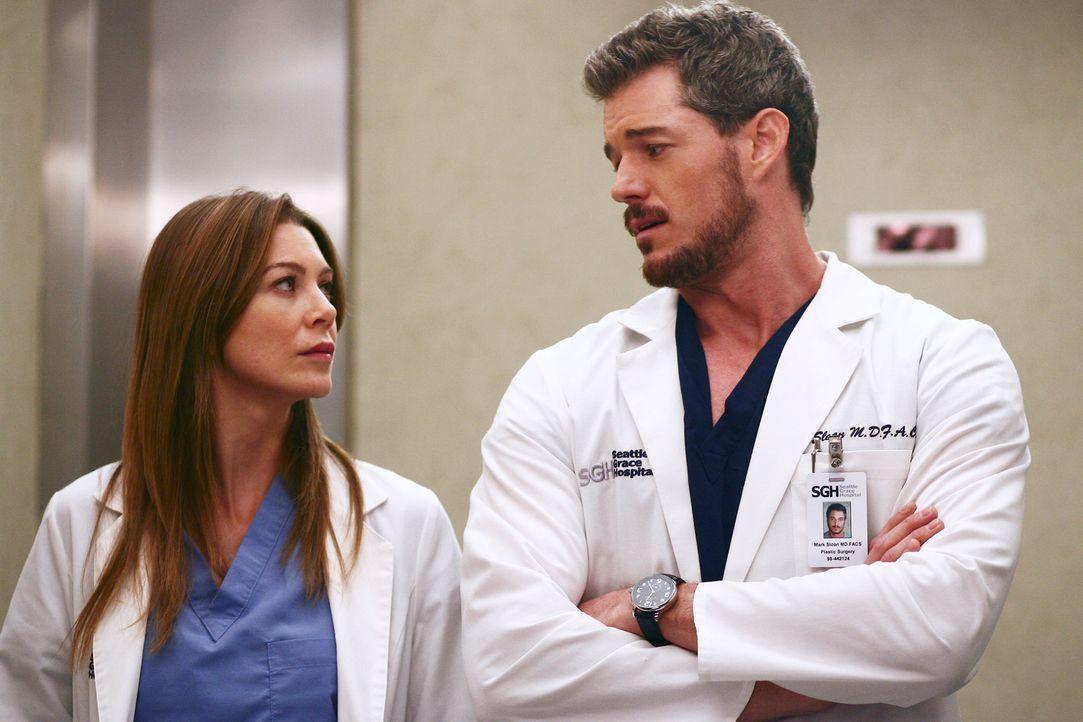 Müssen gemeinsam eine ungewöhnlichen Operation durchführen: Meredith (Ellen Pompeo, l.) und Mark (Eric Dane, r.) ... - Bildquelle: Touchstone Television
