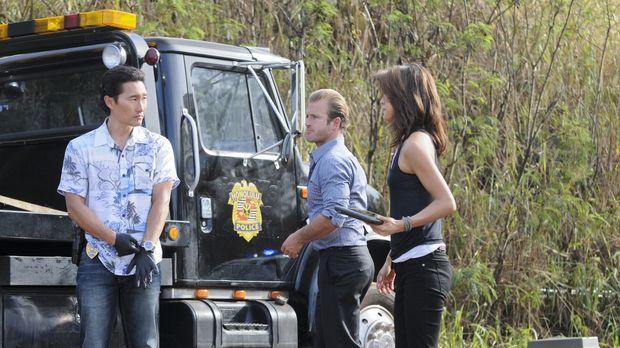 Ein neuer Fall beschäftigt das Team: Danny (Scott Caan, M.), Chin (Daniel Dae...