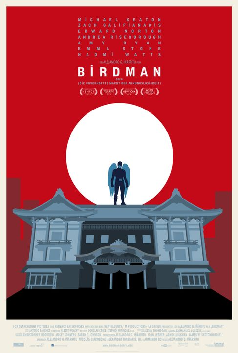 Birdman-Plakat-Japan-20th-Century-Fox - Bildquelle: TWENTIETH CENTURY FOX