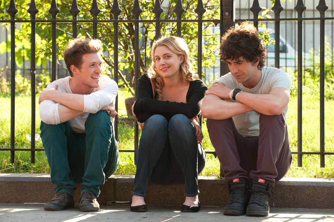 Am Set: (v.l.n.r.) Regisseur Daryl Wein mit Greta Gerwig und Hamish Linklater ... - Bildquelle: Myles Aronowitz 2012 Twentieth Century Fox Film Corporation. All rights reserved.