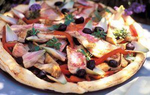 Pizza-Kreation für Fischfans! Hier das Rezept