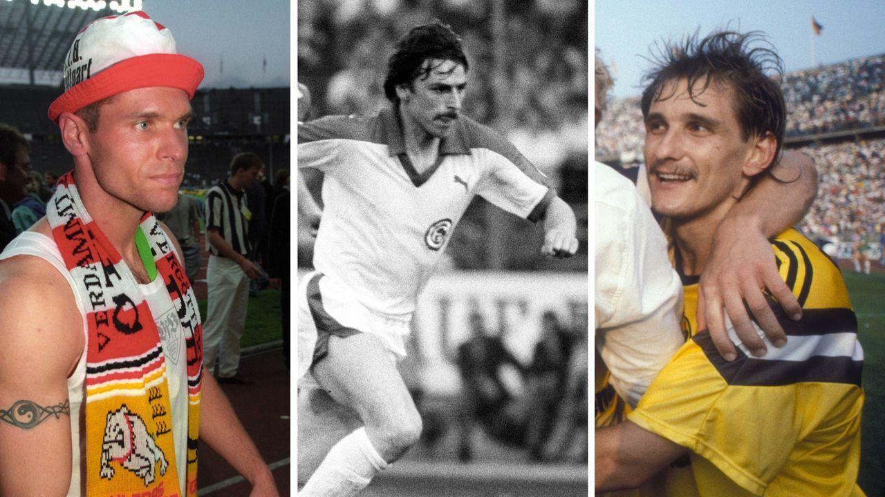 Mit drei verschiedenen Clubs Pokalsieger als Spieler: Legat, K. Allofs und Kroth - Bildquelle: Imago