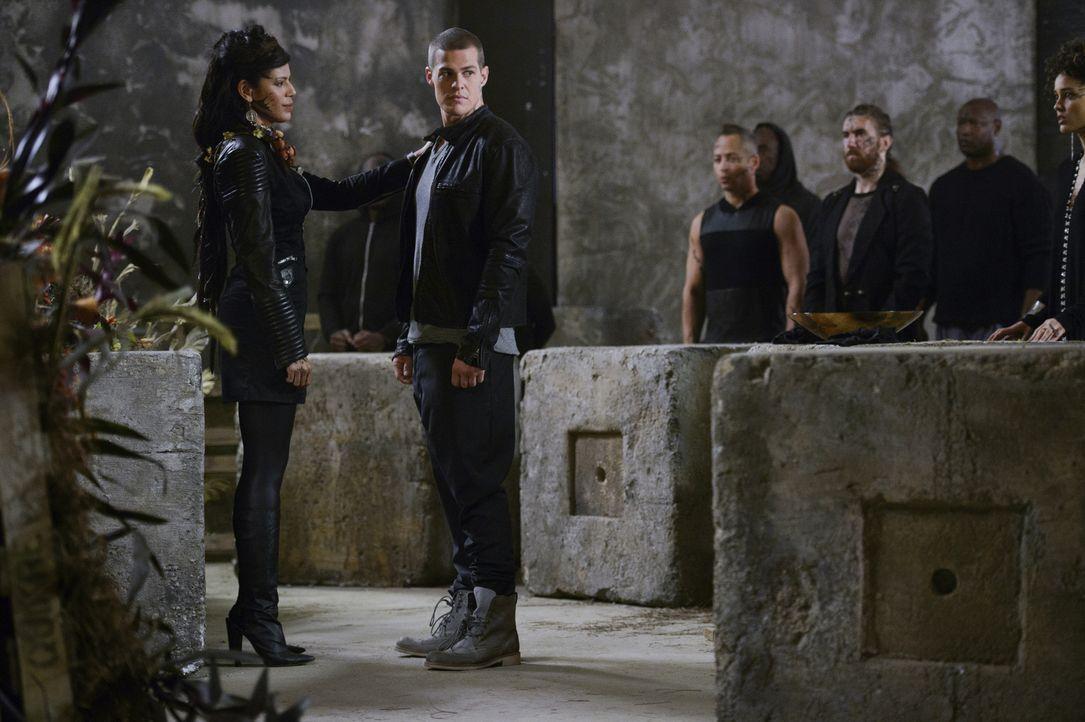 Vega (Merle Dandridge, l.) macht Drake (Greg Finley, 2.v.l.) ein Angebot, dass er weder abschlagen kann, noch annehmen möchte ... - Bildquelle: 2014 The CW Network, LLC. All rights reserved.