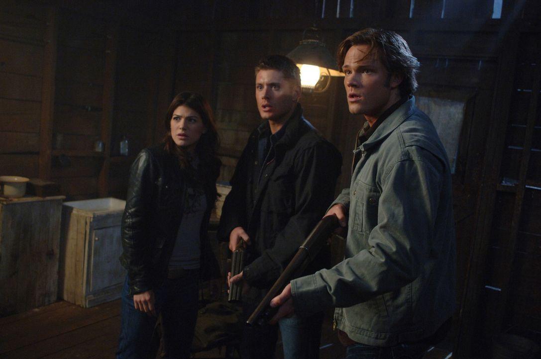 Versuchen Anna zu beschützen: Ruby (Genevieve Cortese, l.), Dean (Jensen Ackles, M.) und Sam (Jared Padalecki, r.) ... - Bildquelle: Warner Brothers