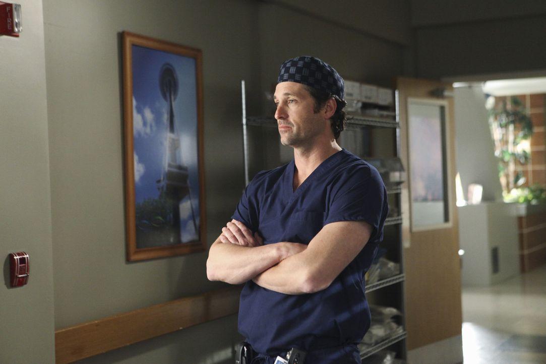 Macht sich Sorgen um Meredith: Derek (Patrick Dempsey) ... - Bildquelle: ABC Studios