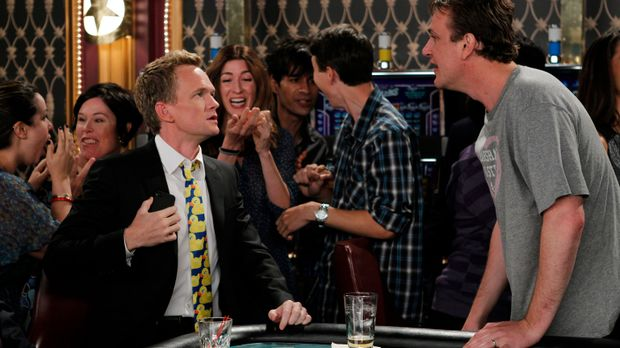 Die nackte Wahrheit: Marshall (Jason Segel, r.) und Barney (Neil Patrick Harr...