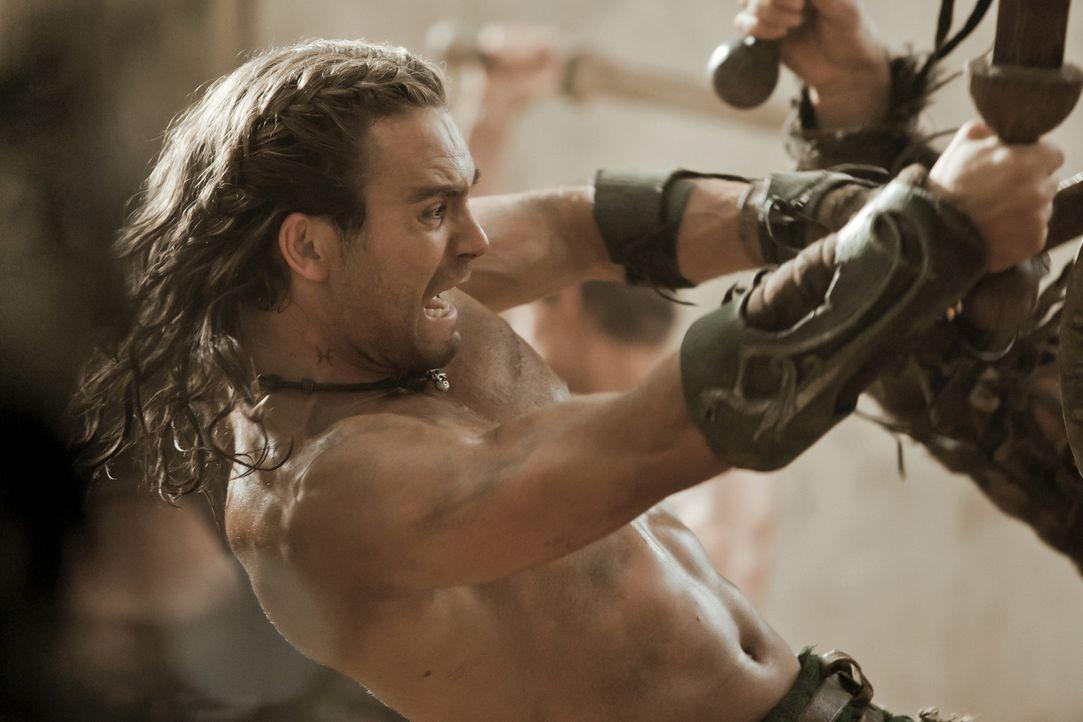 Der beste Gladiator in Batiatus' Ludus: Gannicus (Dustin Clare) ... - Bildquelle: 2010 Starz Entertainment, LLC