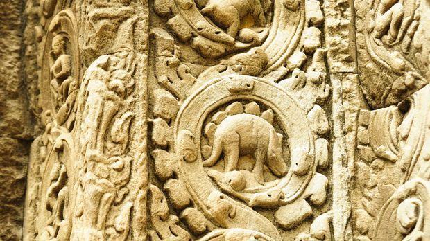 In der größten historischen Tempelanlage der Welt, Angkor Wat (Bild), haben F...