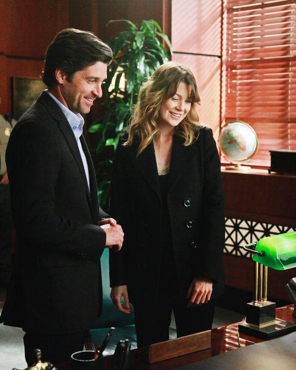 Nicht nur Callie und Arizona geben sich das Ja-Wort: Meredith (Ellen Pompeo, r.) und Derek (Patrick Dempsey, l.) ... - Bildquelle: ABC Studios