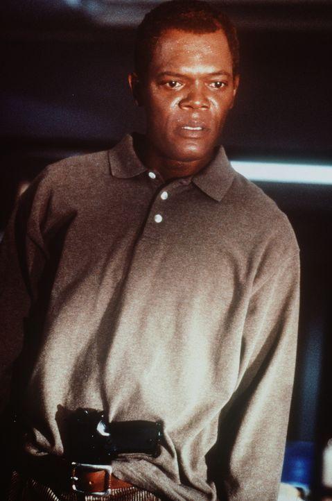 Danny Roman (Samuel L. Jackson) wird des Mordes beschuldigt ... - Bildquelle: TM+  Warner Bros.