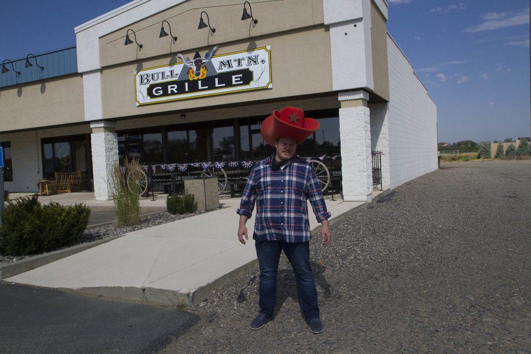 """In Billings, Montana stattet Casey Webb dem """"Bull Mountain Grille"""" einen Besuch ab. Und zwar auf seine Weise ... - Bildquelle: 2017,The Travel Channel, L.L.C. All Rights Reserved."""
