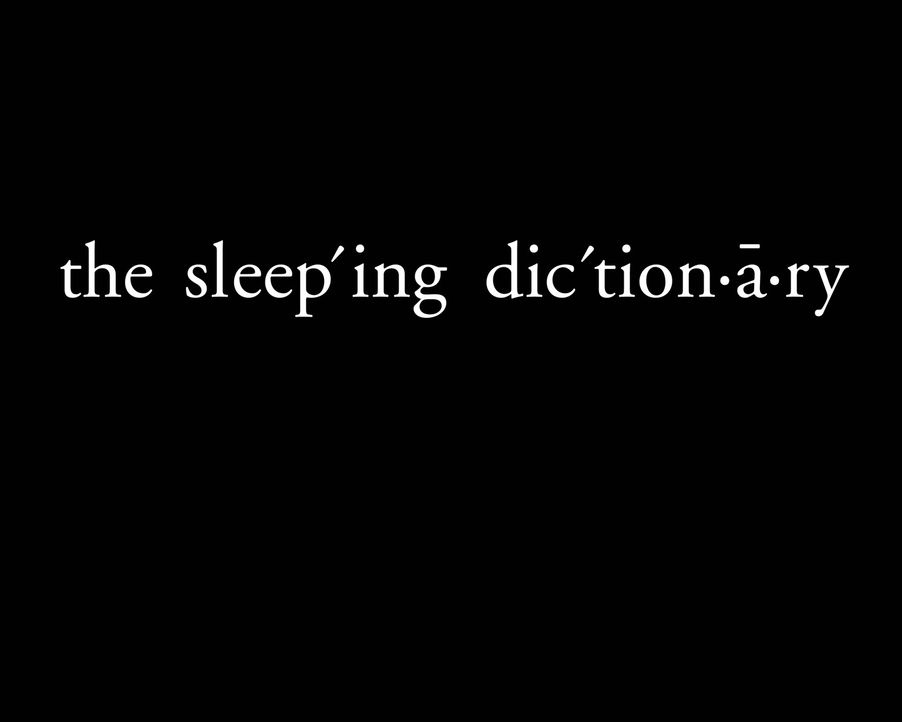 The Sleeping Dictionary - Originaltitel-Logo ... - Bildquelle: Warner Bros. Television